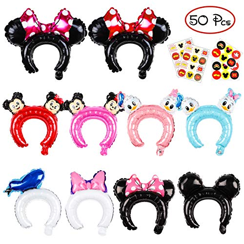 PANTIDE 50 Pcs Mickey Minnie Mouse Inflatable Headbands