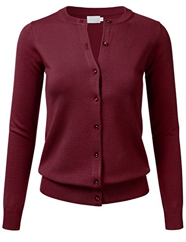 The Best Burgundy Cardigan Ladies - See reviews and compare