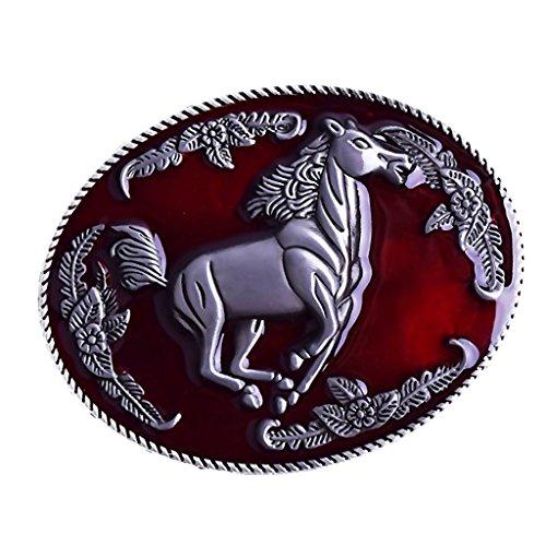 D DOLITY Hebilla de Cinturón Metálico de Indio Antiguo para Pantalones Vaqueros Ocasionales de Hombre - #2