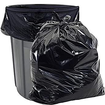 400 Large 33 Gallon Strong Commercial Trash Bag Heavy Garbage Duty Yard Black