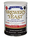Lewis Lab Brewers Yeast Flakes - 12.35 oz - Gluten Free - Great Taste - 100% Natural - Higher Protein Content