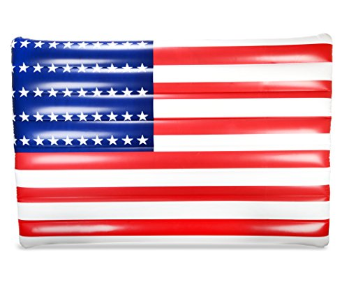 Mimosa Inc American Flag Lounger Inflatable Premium Quality Giant Pool - Flag Inflatable Float