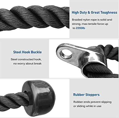 Dohoo - Manijas para máquina de cables, mango para máquina de remo y tirador de ejercicio para gimnasio en casa 5