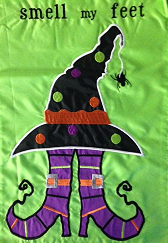 Evergreen Flag & Garden Trick or Treat Feet Garden Flag