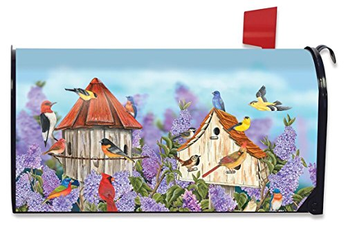 Briarwood Lane Birds and Lilacs Spring Mailbox Cover Finches Cardinals (Lilac Box)