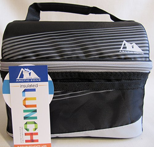 Artic Zone Cooler Classic Lunch Bucket (Black-Grey Single Zip)