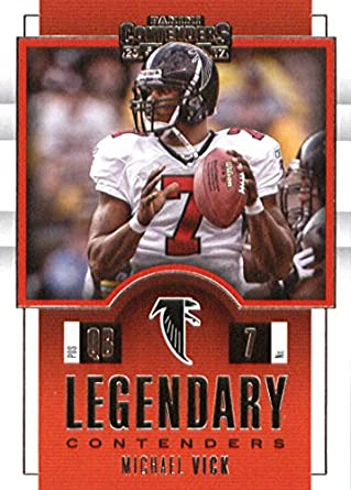 2017 Panini Contenders Legendary Contenders  4 Michael Vick Atlanta Falcons  Football Card 3e607f021