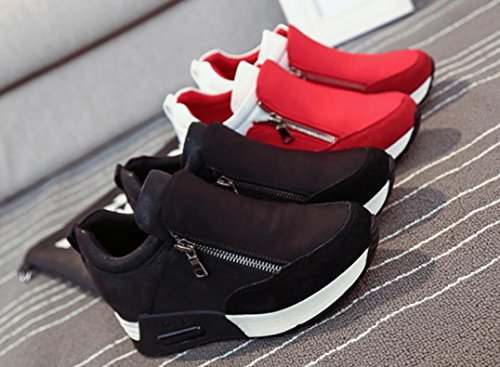 haoricu Sports Shoes Women, Women Wedges Boots Platform Shoes Slip On Ankle Boots Fashion Casual Running Hiking Sneakers