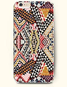OOFIT Aztec Indian Chevron Zigzag Pattern Hard Case for Apple iPhone 4 4S Blue Zig Zag Mountain Shape