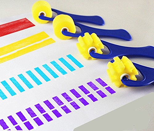 Thanksgiving Christmas gift decoration 4pcs/set sponge roller stamper water watercolor oil gouache acrylic paint brush for painting art supplier creativity foam