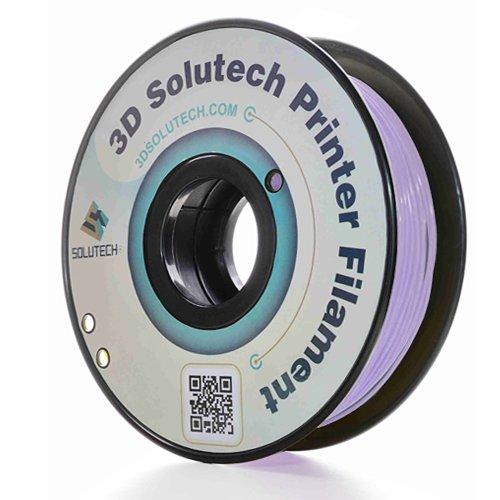3D Solutech Lavender Purple 3D Printer PLA Filament 1.75MM Filament, Dimensional Accuracy +/- 0.03 mm, 2.2 LBS (1.0KG)