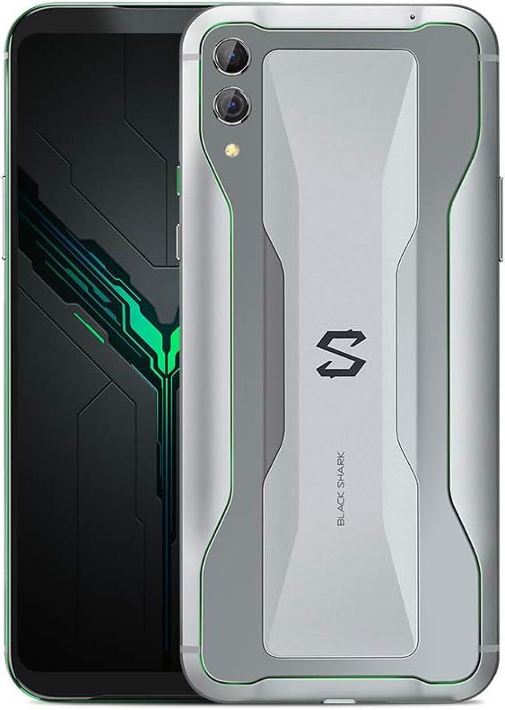 Black Shark 2 12GB + 256GB Plateado - Dual SIM, 6.39 Inch AMOLED, Snapdragon 855, Adreno 640 GPU, Liquid Cooling 3.0, Dual Cámara Trasera 48MP + 12MP, Teléfono de Juego - Versión Española