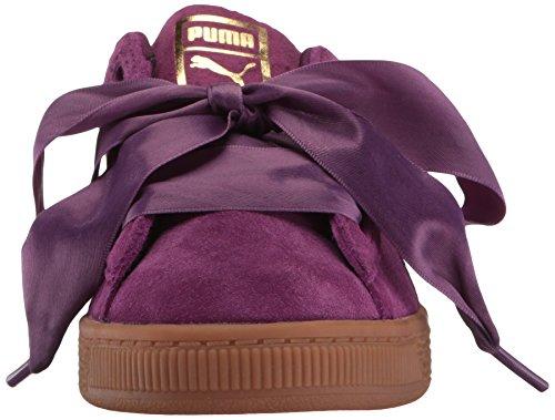 PUMA Unisex-Kids Suede Heart Snk,Dark Purple/Dark Purple,5 M US Toddler