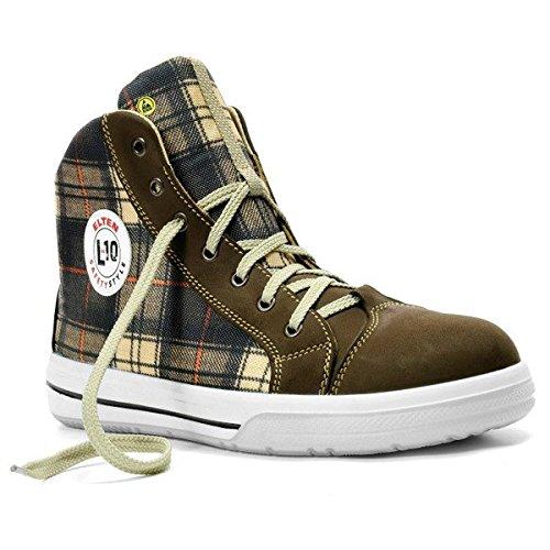 Alta seguridad Elten Checker Mid Zapatillas zapatos S3 negro - negro