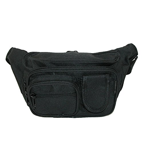- Everest Unisex Denier Fabric Concealed Carry Fanny Waist Pack, Black