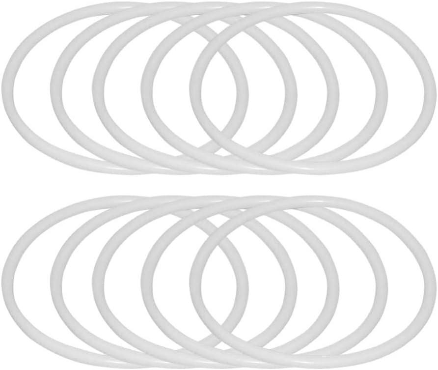 SUPVOX 12 Piezas Anillos de atrapasueños Aros de plástico macramé Anillos Aros para Suministros de Bricolaje Artesanal atrapasueños (18 5 cm)