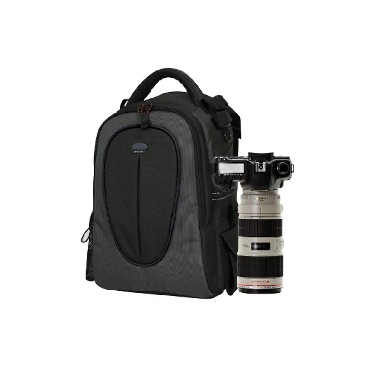 カメラバッグ、ワンショルダーデジタルカメラバックパック、ショルダー一眼レフトラベルミニマリストデザイン、ブラック (Color : Black)   B07R3JGXH1