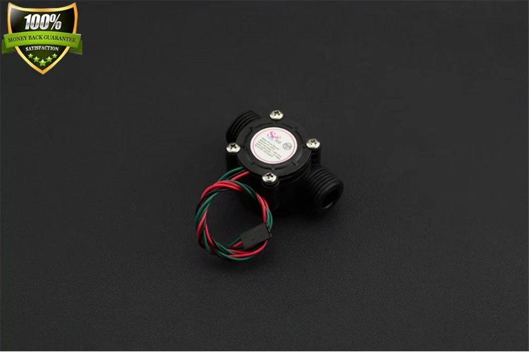 Water Flow Sensor (1/2'') For Arduino Accurate calculation of the flow of each liquid to achieve real-time and accurate control Internal diameter of the interface: 11mm Interface outer diameter: 20mm