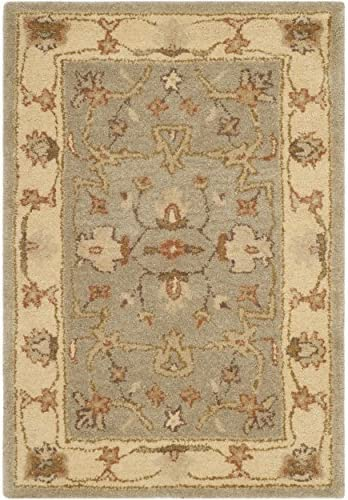 Safavieh Antiquities Collection AT62A Handmade Traditional Light Grey and Beige Area Rug 2 x 3