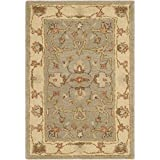 Safavieh Antiquities Collection AT62A Handmade Traditional Light Grey and Beige Area Rug (2′ x 3′)