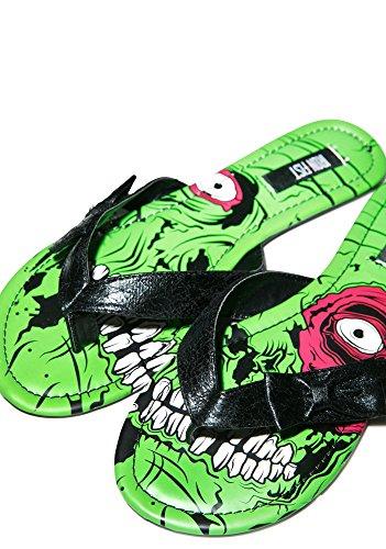 Iron Fist Schuhe–Frauen Zombie Rollschuhe für grün Strand Sandalen