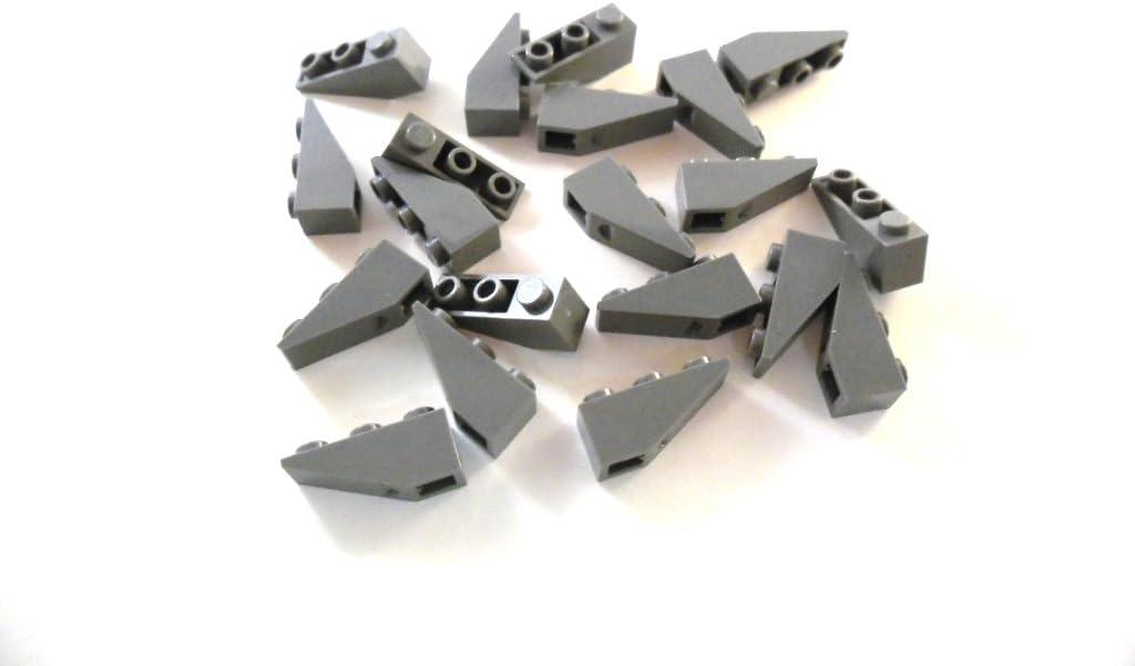 Lego 6 schräge Dachsteine 2 x 1 in neu dunkel grau
