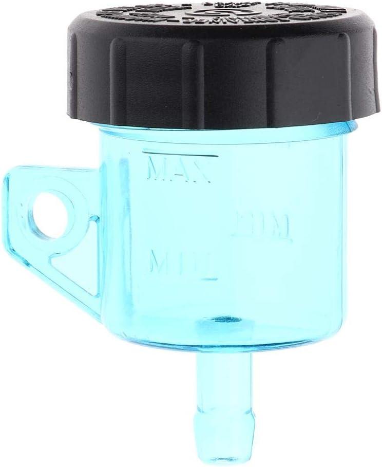 Homyl Motorrad Hauptbremszylinder Ölbehälter Bremsflüssigkeitsbehälter Aus Kunststoff Blau Auto