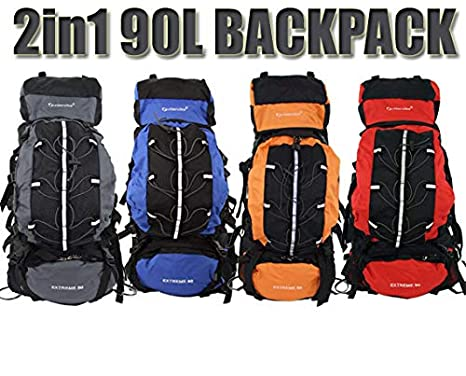 6adfcd587248 Outlander - Camping Backpack Large 90L + 15L Day Pack Rucksack Bag ...