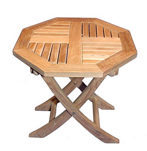 (Teak Octagon Folding Occasional Table)