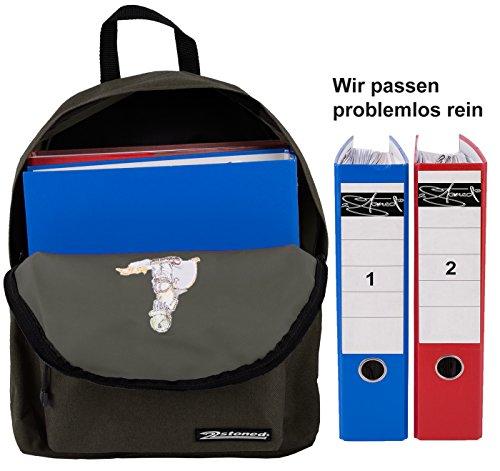 Original 2stoned Crossover-Bag Bodybag mit Stickmotiv in 4 Farben Olive/Pi-Boy