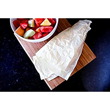 Beeswax Food Wrap: 7 Piece Assorted Size Set - Waxed Cotton Food Wraps: A Plastic Free Alternative to Food Storage