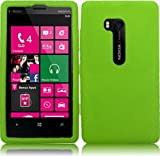 Nokia Lumia 810 ( T-Mobile ) Phone Case Accessory Light Green Soft Silicone Rubber Skin Cover with Free Gift Aplus Pouch