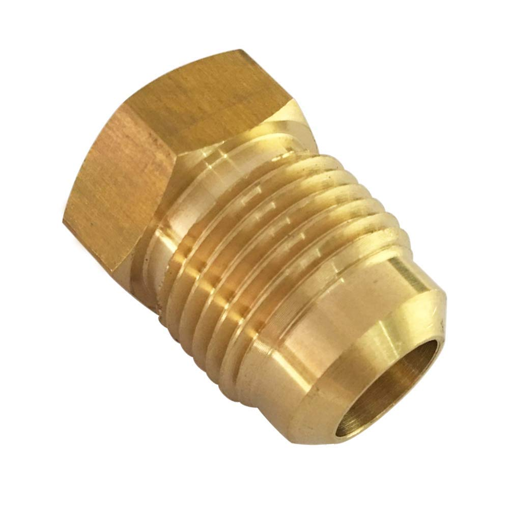 SAE Flared Tube Fitting Seal Plugs Brass 45 Degree Flare 1//2 OD Plug 5pcs