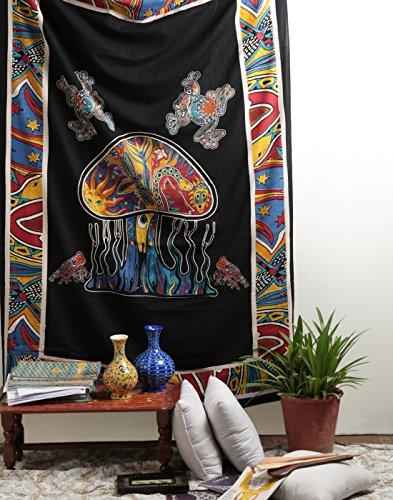 Psychedelic Mushroom Tapestry Bohemian Rajrang