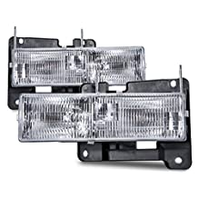 Chevy GMC Pickup Sierra Silverado replacement headlights with bulbs