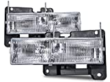 98 silverado 1500 - Headlights Depot Replacement for Chevy GMC Pickup Sierra Silverado replacement headlights with bulbs