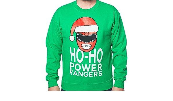 Amazoncom Mens Ho Ho Mighty Morphin Power Rangers Christmas Faux