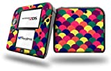 Brushed Cirlces Multi Dark - Decal Style Vinyl Skin fits Nintendo 2DS - 2DS NOT INCLUDED