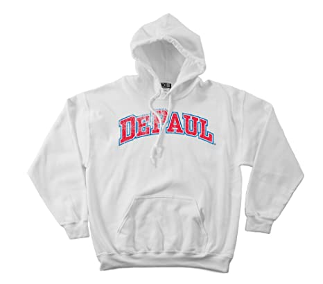 NCAA Depaul Blue Demons 50//50 Blended 8-Ounce Vintage Arch Crewneck Sweatshirt