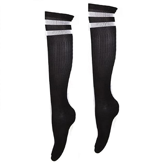 53c34cda8a8 Children Sport Football Soccer Long Socks Over Knee High Sock For Boys And  Girls Baseball Hockey striped Socks Kids Socks  Amazon.co.uk  Clothing