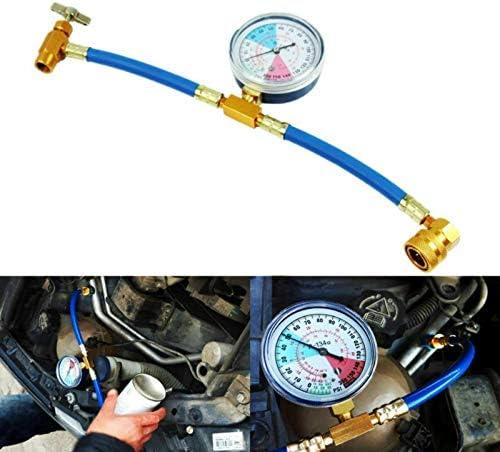 Bourgeon Car Air Conditioning Refrigerant Recharge Measuring Kit Hose Gas Gauge HI-Q R134A AC Car