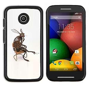 "For Motorola Motorola Moto E / XT1021 / XT1022 Case , Conejo Orejas Largas Naturaleza moderna del arte del amor"" - Diseño Patrón Teléfono Caso Cubierta Case Bumper Duro Protección Case Cover Funda"