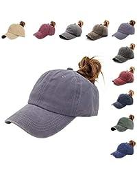 caebe108e7c86 Ponycap Messy High Bun Ponytail Adjustable Mesh Trucker Baseball Cap Hat  for Women