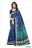 Shonaya Women`S Traditional Bhagalpuri Silk Printed Saree Sari (Blue)