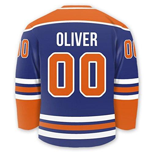 (Personalized Hockey Jersey Stick-on Labels (Edmonton))