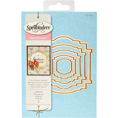 Spellbinders S4-735 Nestabilities Label 58 Etched/Wafer Thin Dies
