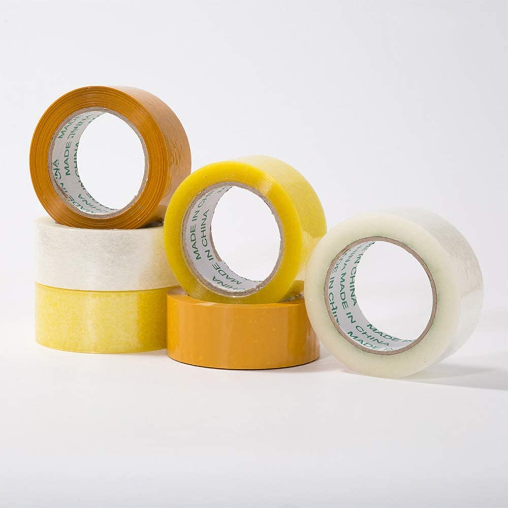 Transparent White 1 Roll Tape Packing Label Clear Sealing Packaging Tape Adhesive Tape rui tai