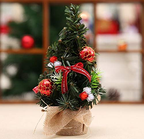 Weahre Mini Artificial Christmas Tree with Detachable Ornament Toddler Friendly Christmas Tree Kids Xmas Gifts Christmas Home Decorations