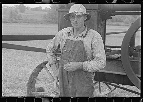 Harvest Hand And Helper On The Virgil Thaxton Farm Near Mechanicsburg  Ohio
