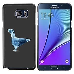 Cubierta protectora del caso de Shell Plástico || Samsung Galaxy Note 5 || Divertido perro Lápiz @XPTECH